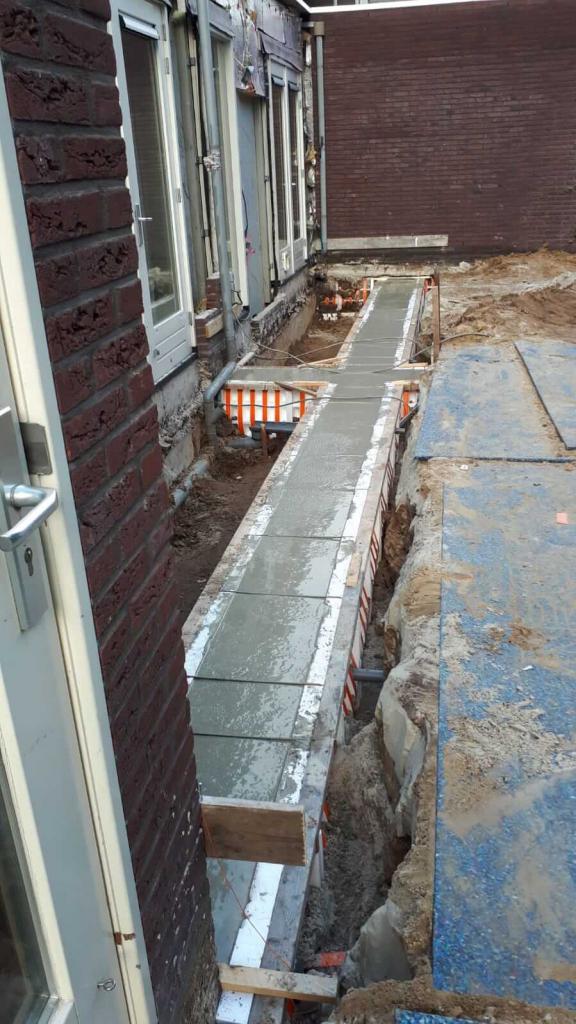 Realisatie 2 aanbouwen te Haren, tijdens bouw