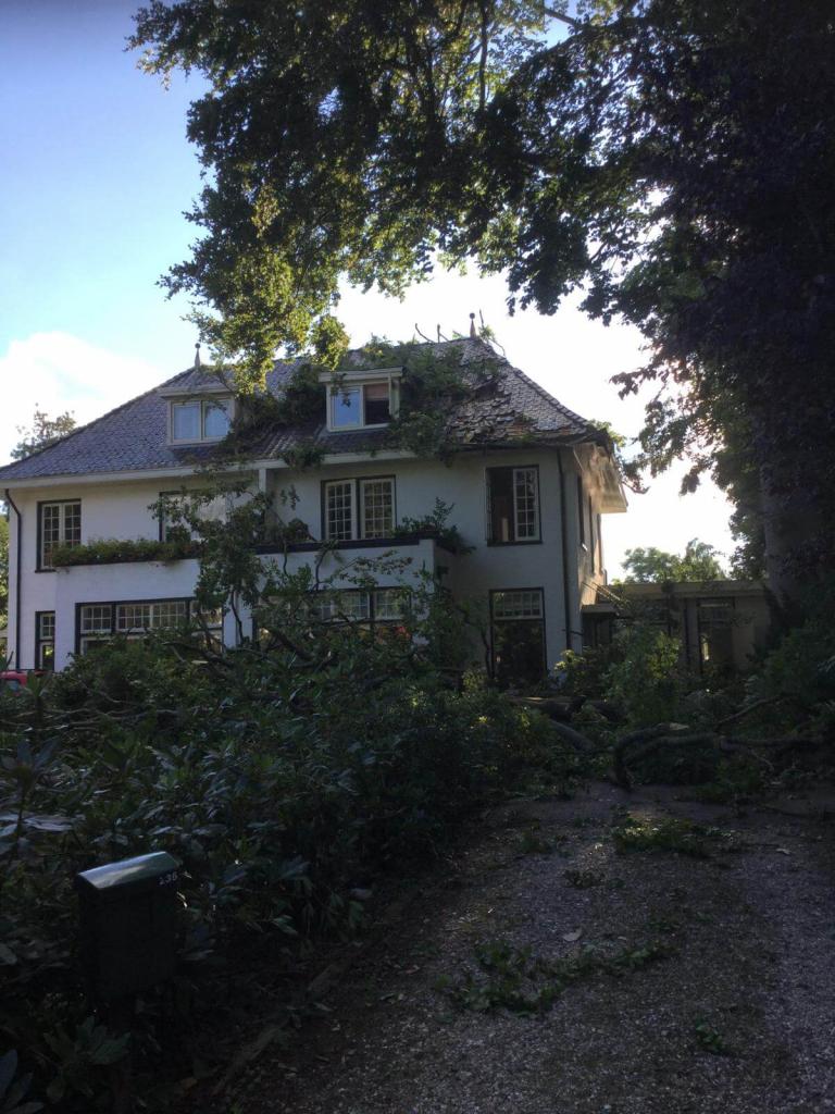 Herstel storm schade Haren.